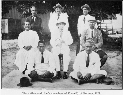 Author and chiefs of Rotuma, 1927