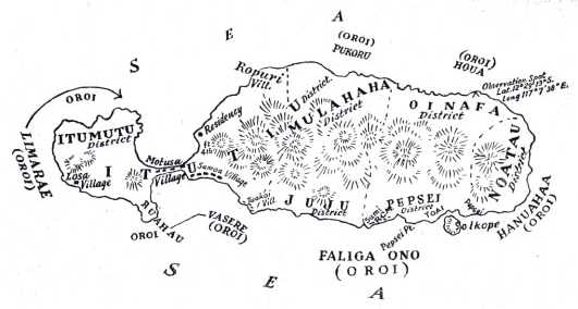 Map of Rotuma